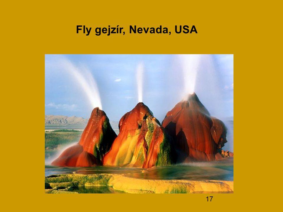 Fly gejzír, Nevada, USA