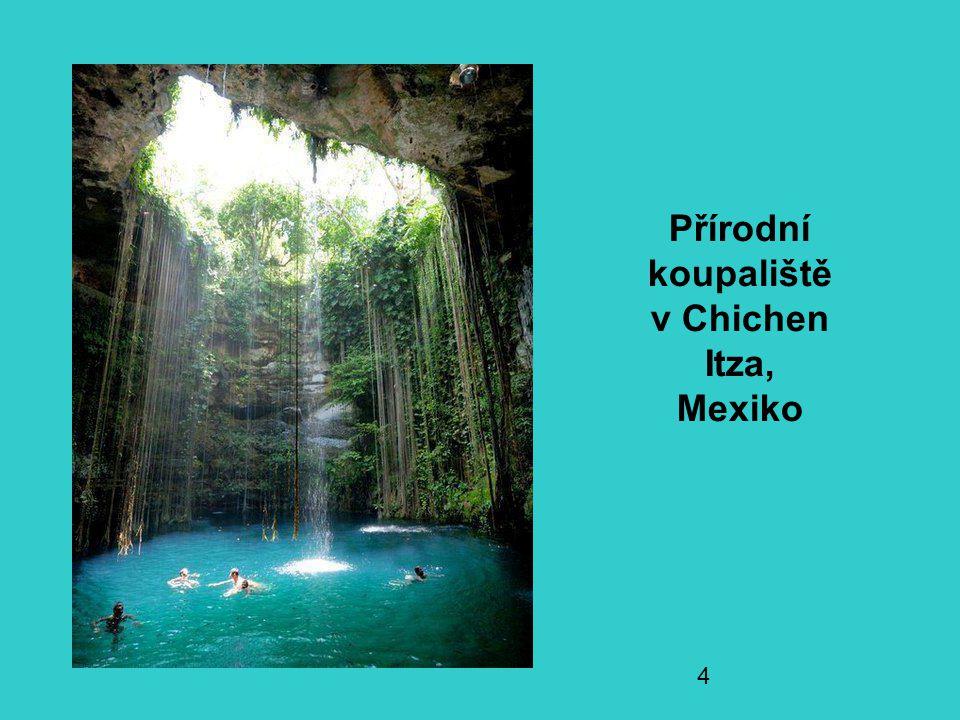 Přírodní koupaliště v Chichen Itza, Mexiko