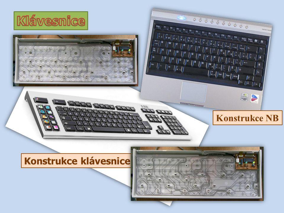 Klávesnice Konstrukce NB Konstrukce klávesnice