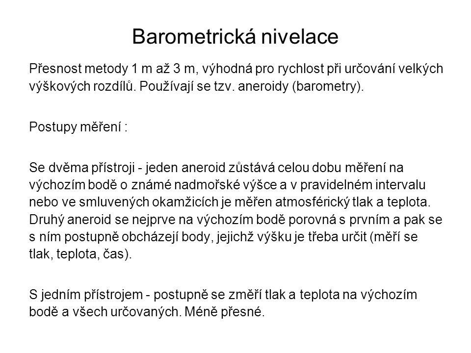 Barometrická nivelace