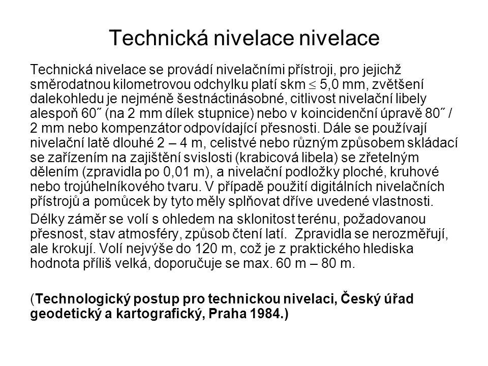 Technická nivelace nivelace
