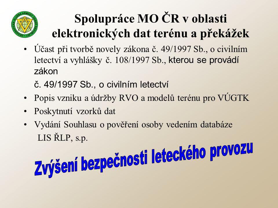 Spolupráce MO ČR v oblasti elektronických dat terénu a překážek