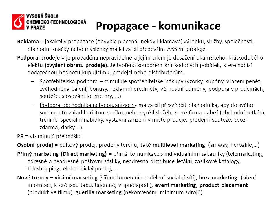 Propagace - komunikace