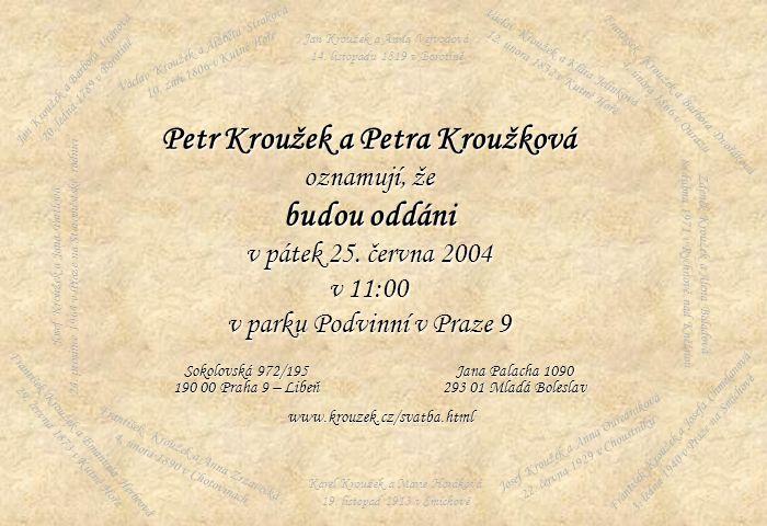 Petr Kroužek a Petra Kroužková