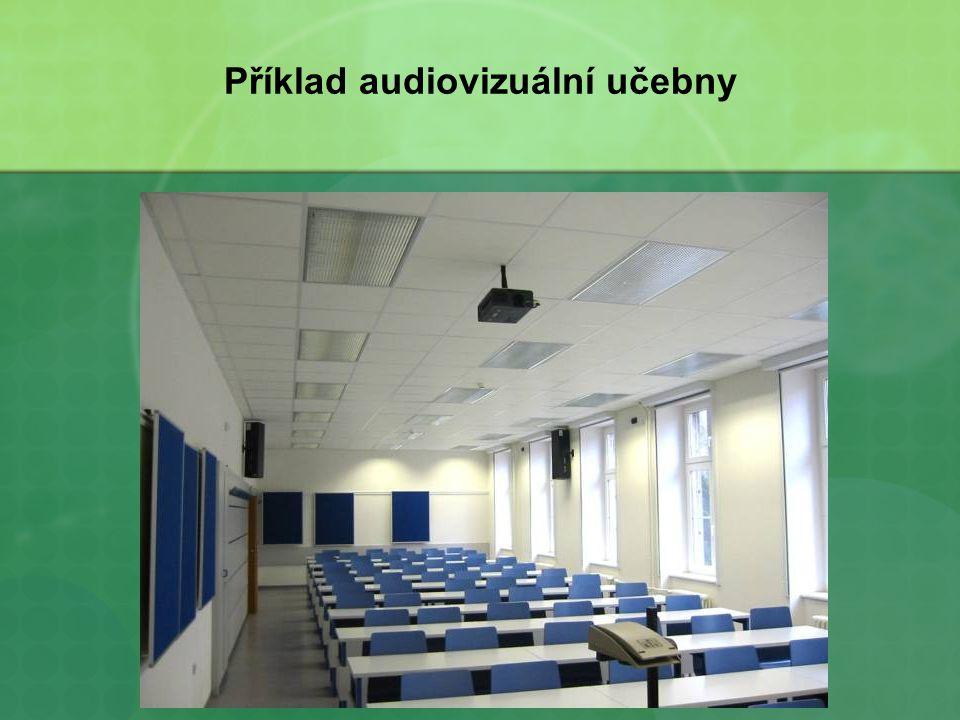 Příklad audiovizuální učebny