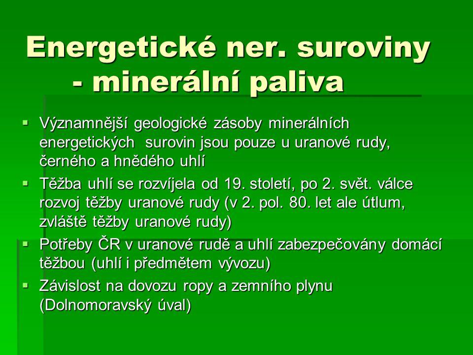 Energetické ner. suroviny - minerální paliva