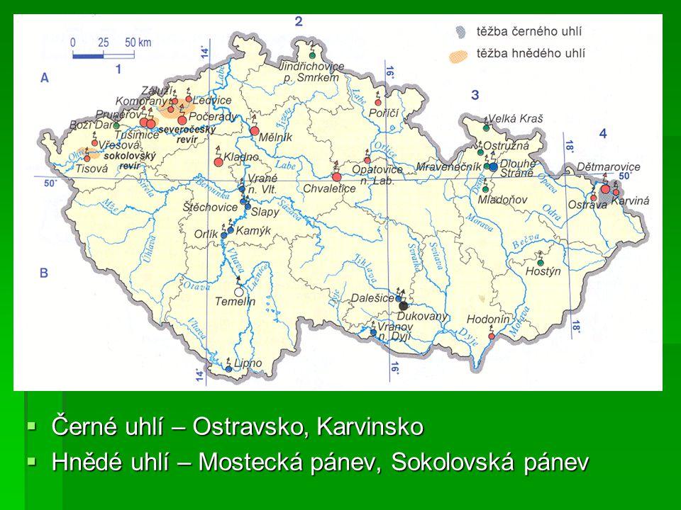 Černé uhlí – Ostravsko, Karvinsko