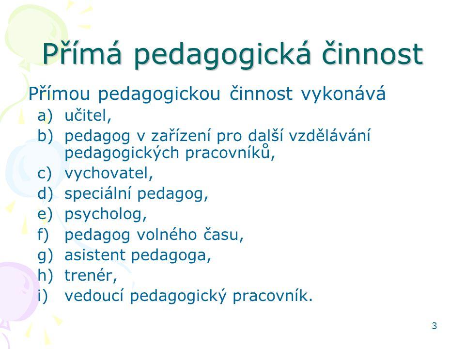Přímá pedagogická činnost