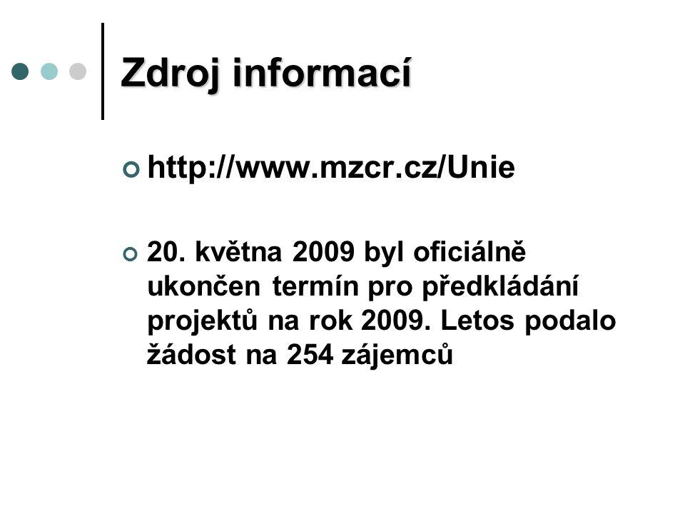 Zdroj informací http://www.mzcr.cz/Unie