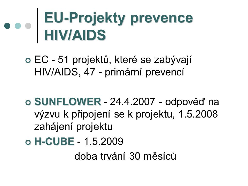 EU-Projekty prevence HIV/AIDS