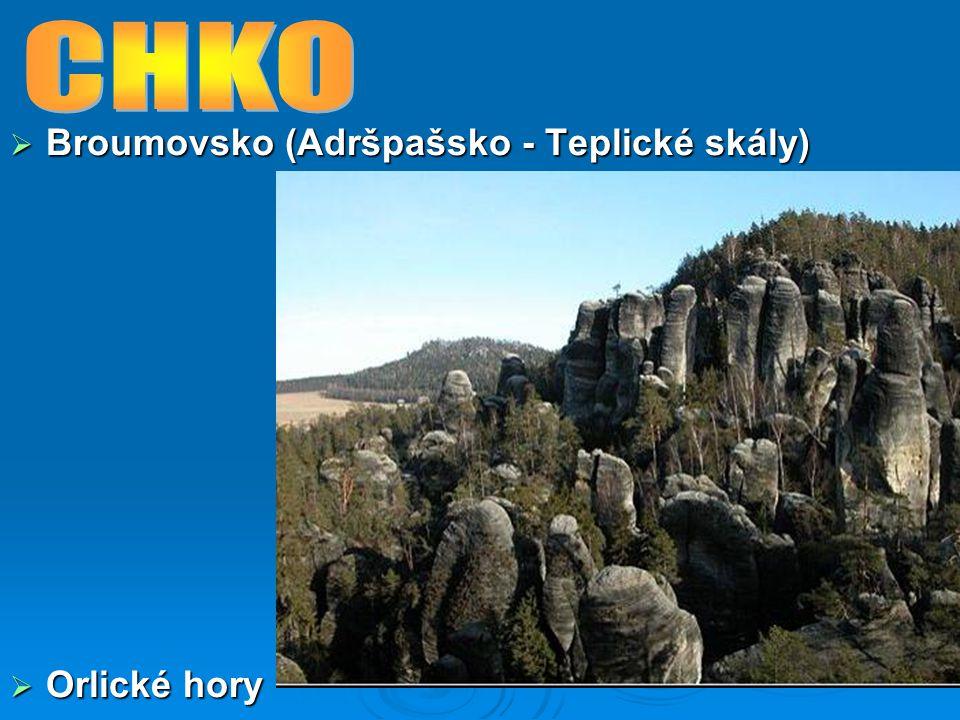 CHKO Broumovsko (Adršpašsko - Teplické skály) Orlické hory