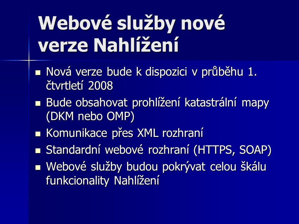 Webové služby nové verze Nahlížení