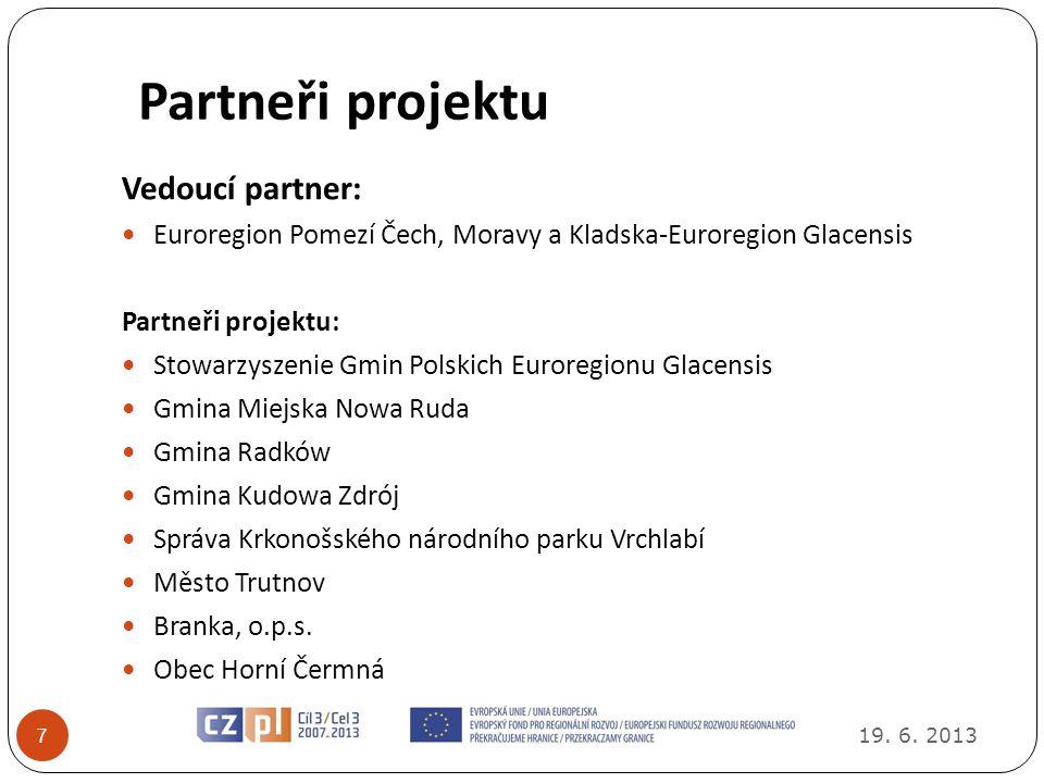 Partneři projektu Vedoucí partner: