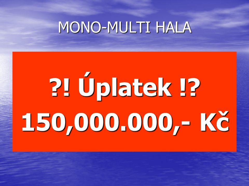 ! Úplatek ! 150,000.000,- Kč MONO-MULTI HALA