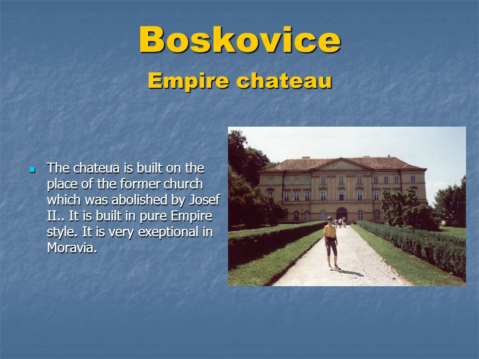 Boskovice Empire chateau