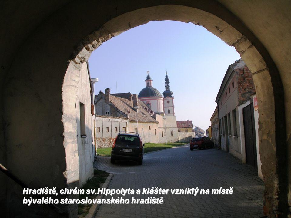 Hradiště, chrám sv.Hippolyta a klášter vzniklý na místě bývalého staroslovanského hradiště