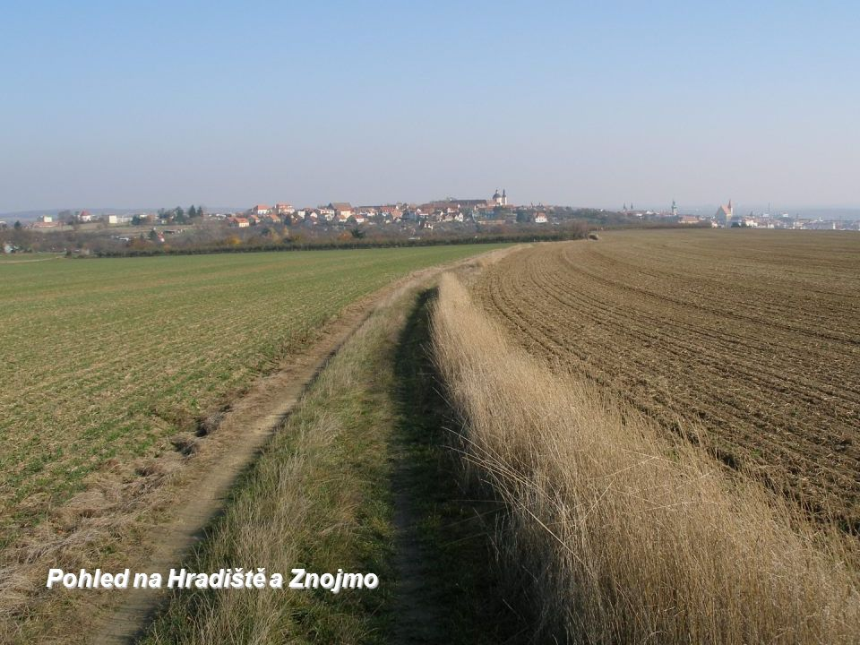 Pohled na Hradiště a Znojmo