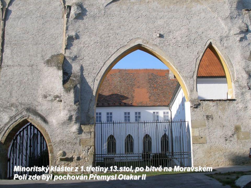 Minoritský klášter z 1. třetiny 13
