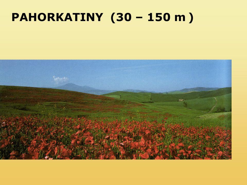 PAHORKATINY (30 – 150 m )