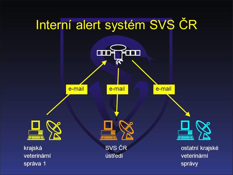 Interní alert systém SVS ČR