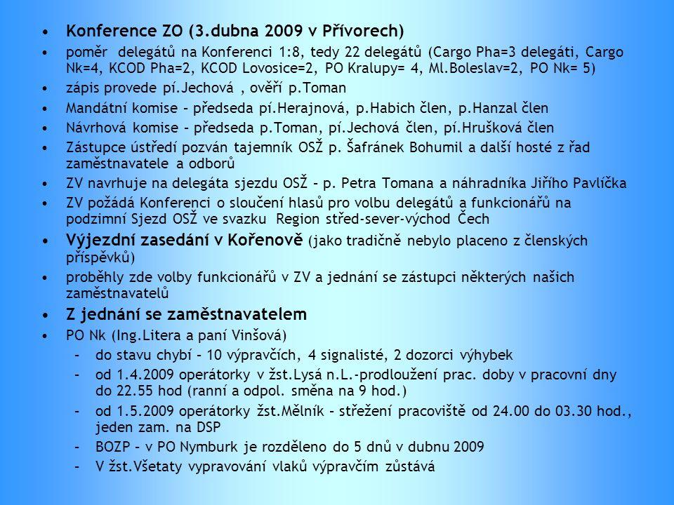 Konference ZO (3.dubna 2009 v Přívorech)