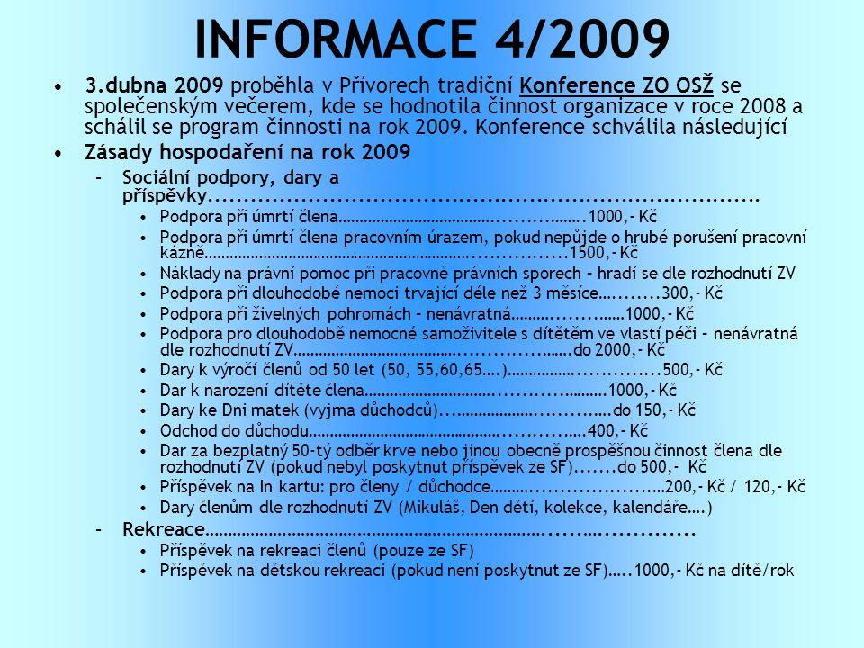 INFORMACE 4/2009