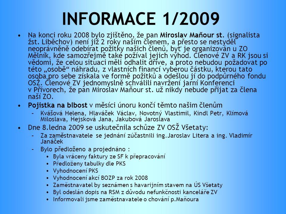 INFORMACE 1/2009