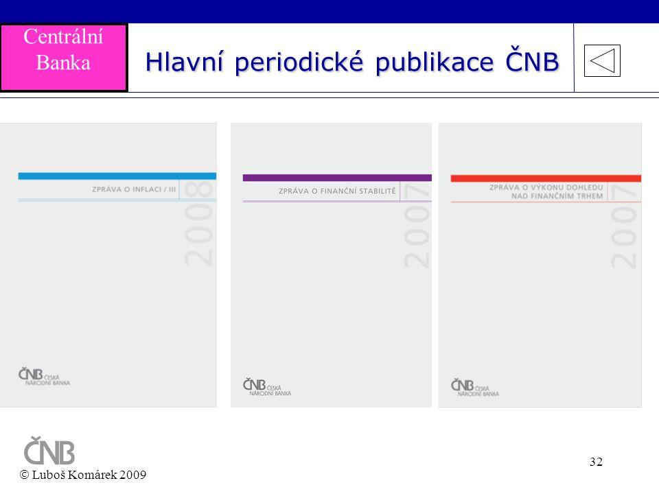 Hlavní periodické publikace ČNB