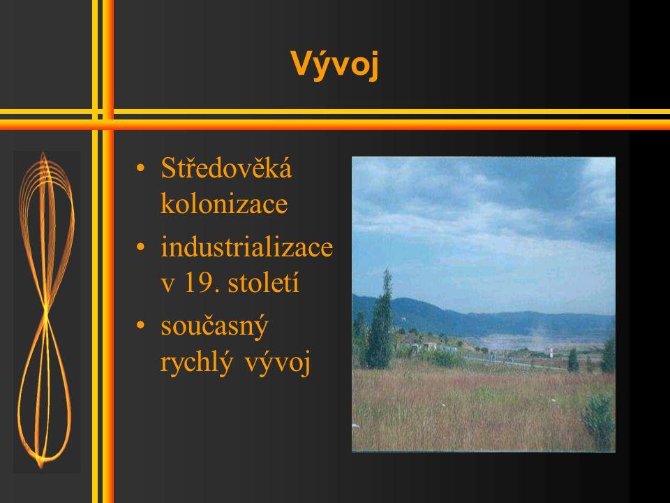 Vývoj Středověká kolonizace industrializace v 19. století