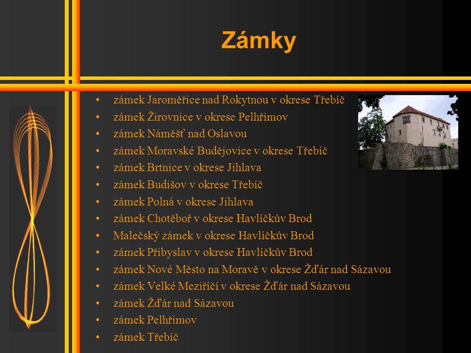 Zámky zámek Jaroměřice nad Rokytnou v okrese Třebíč