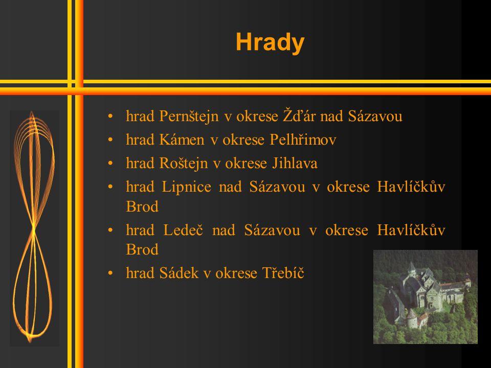 Hrady hrad Pernštejn v okrese Žďár nad Sázavou