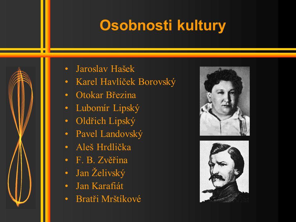 Osobnosti kultury Jaroslav Hašek Karel Havlíček Borovský
