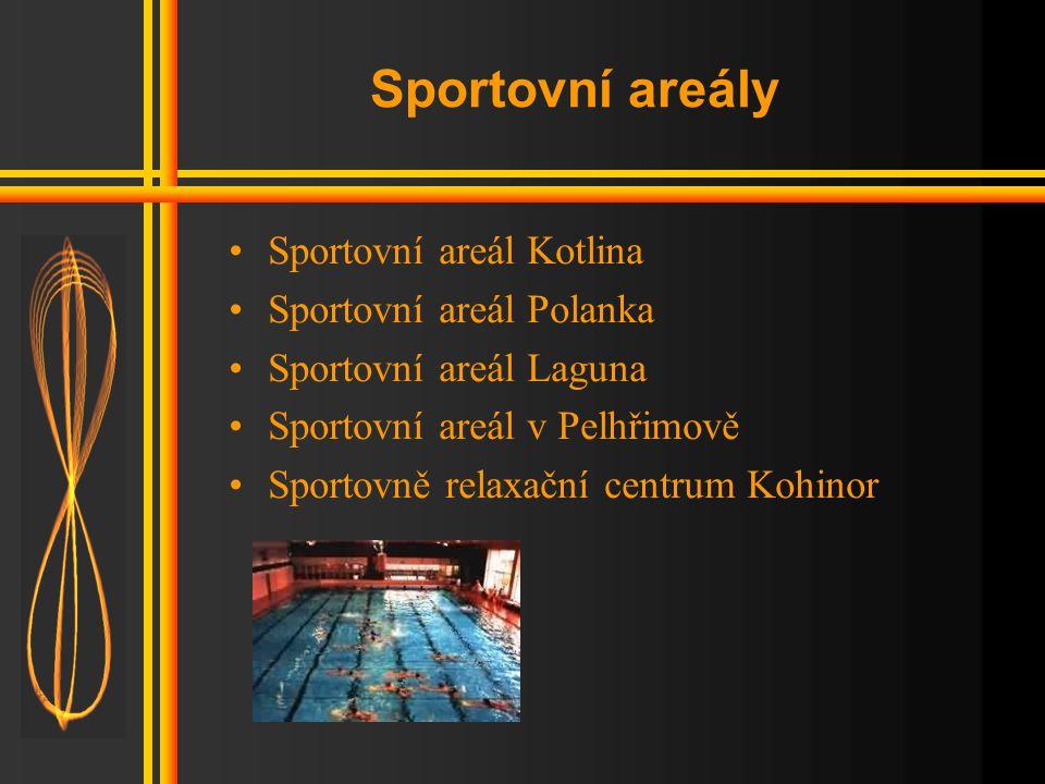 Sportovní areály Sportovní areál Kotlina Sportovní areál Polanka