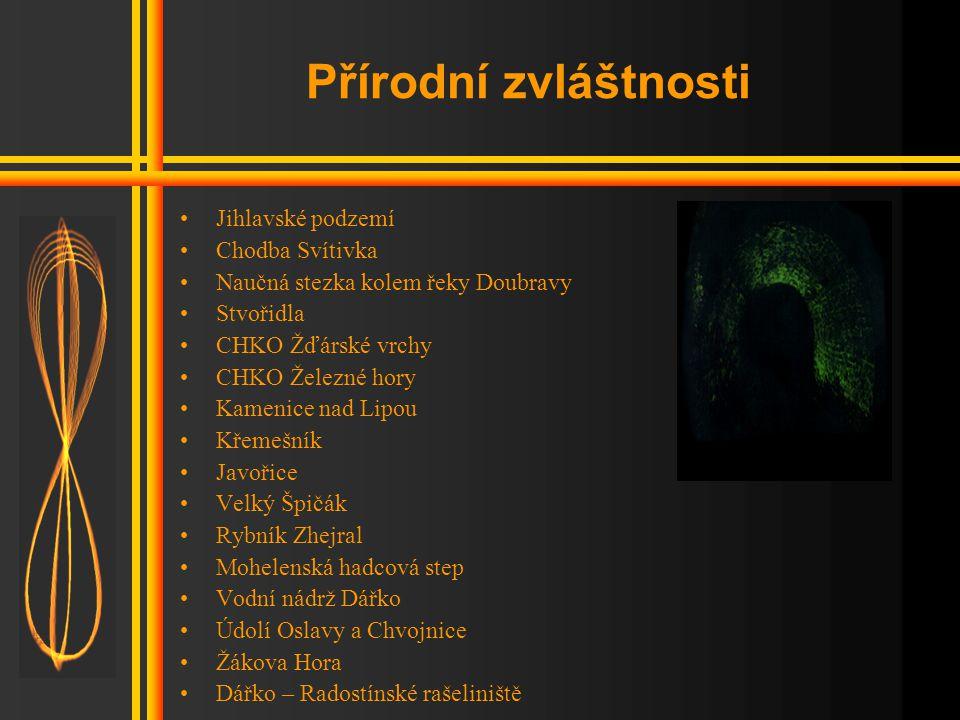 Přírodní zvláštnosti Jihlavské podzemí Chodba Svítivka