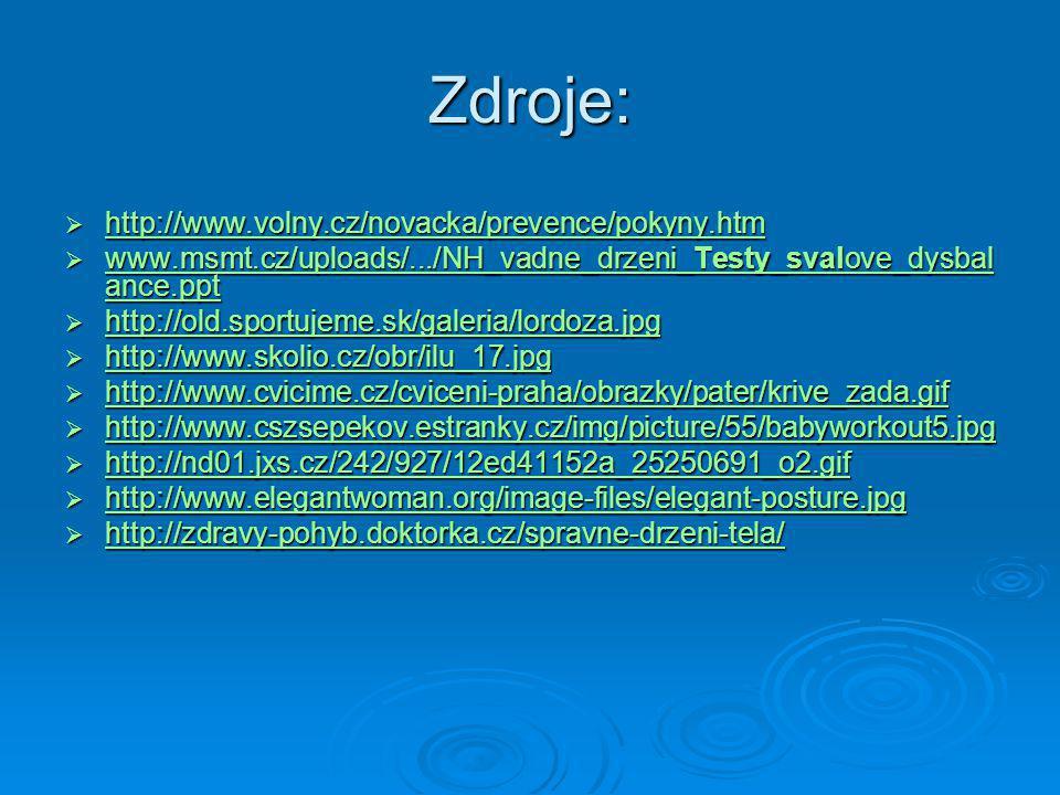 Zdroje: http://www.volny.cz/novacka/prevence/pokyny.htm