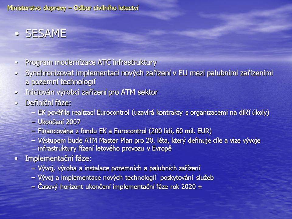 SESAME Program modernizace ATC infrastruktury