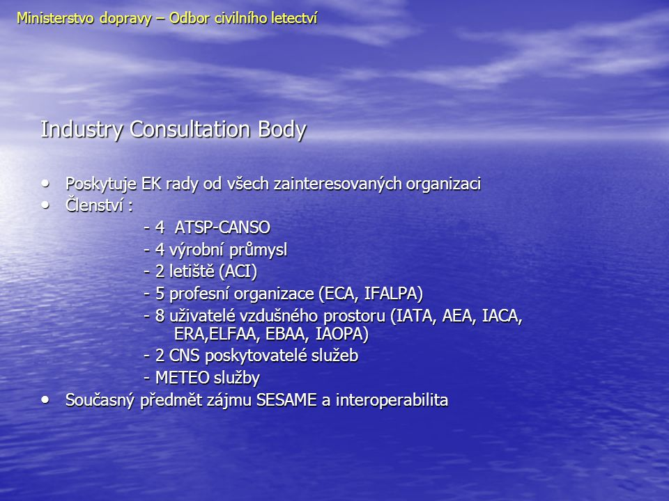 Industry Consultation Body