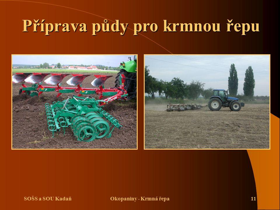 Příprava půdy pro krmnou řepu
