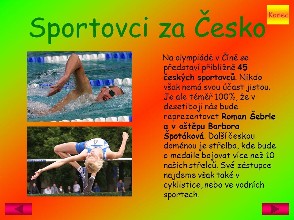 Konec Sportovci za Česko.