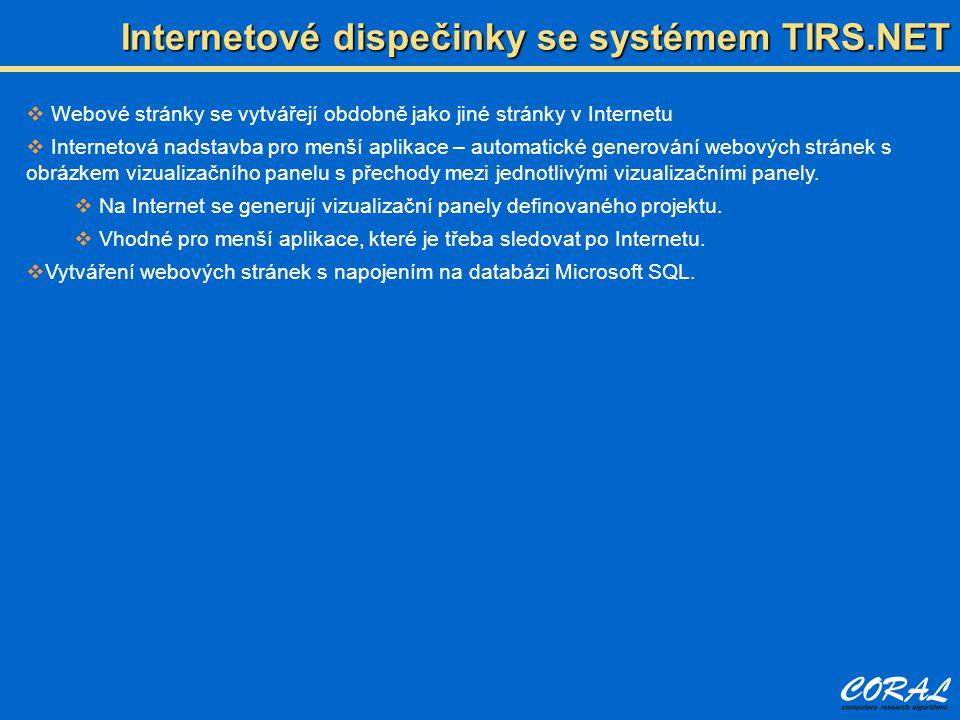 Internetové dispečinky se systémem TIRS.NET
