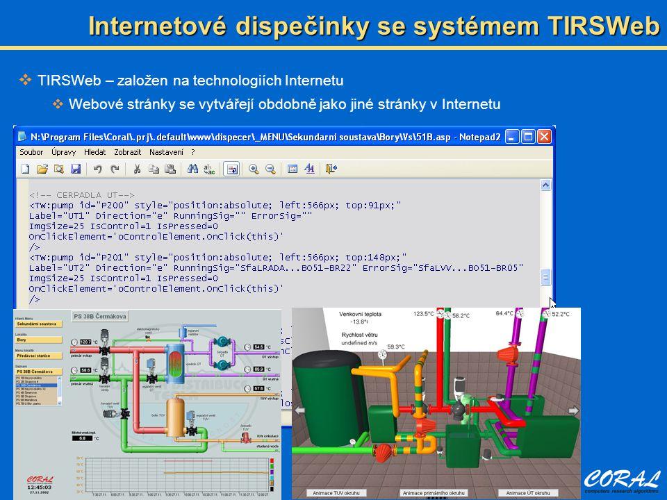 Internetové dispečinky se systémem TIRSWeb