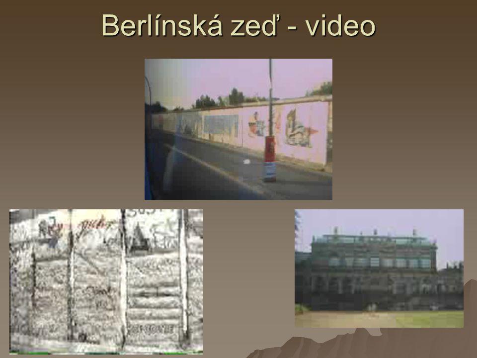 Berlínská zeď - video
