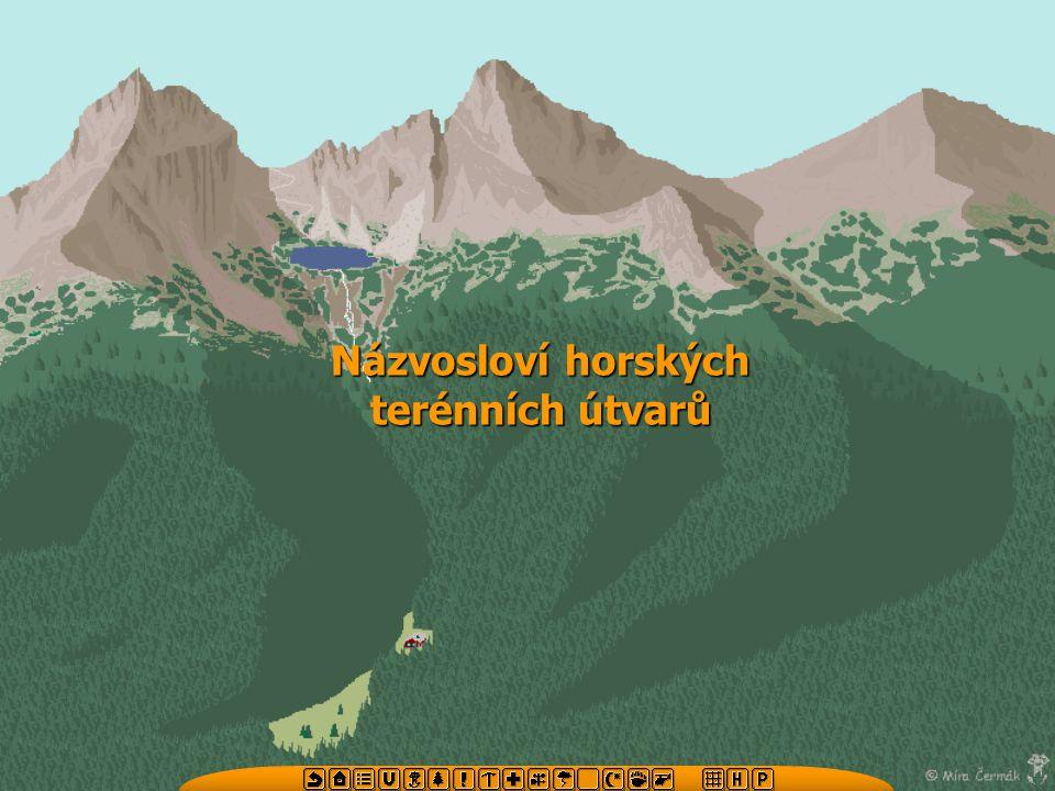 Názvosloví horských terénních útvarů