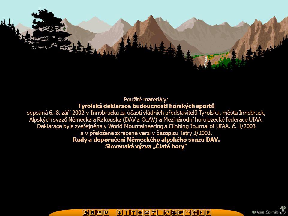 Tyrolská deklarace budoucnosti horských sportů