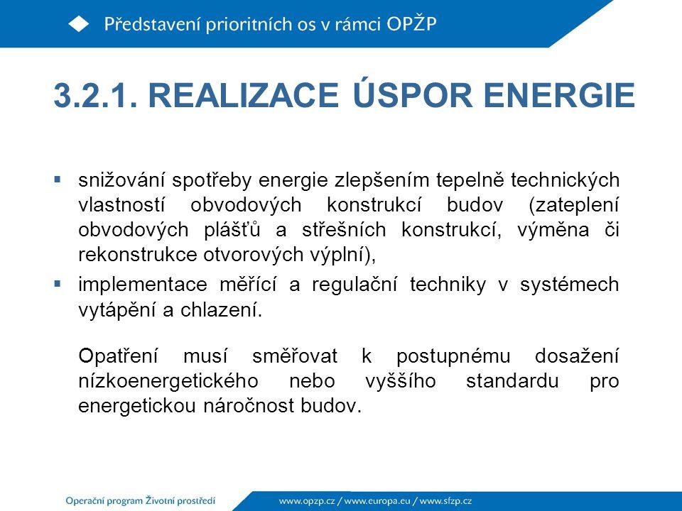 3.2.1. REALIZACE ÚSPOR ENERGIE
