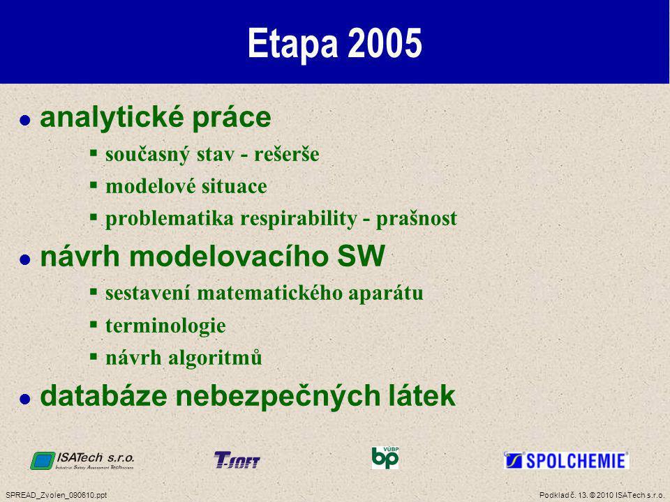 Etapa 2006 návrh softwarového řešení přípravy na terénní testy