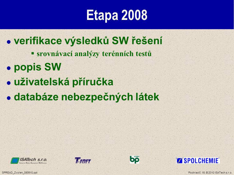 Etapa 2009 zpracování závěrečné dokumentace uživatelská příručka