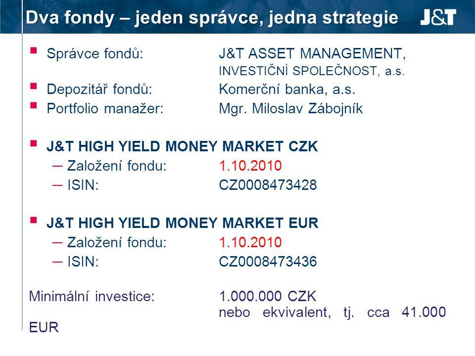 Dva fondy – jeden správce, jedna strategie
