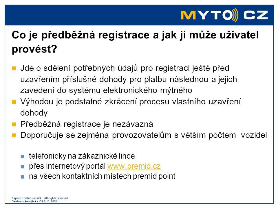 Co je předběžná registrace a jak ji může uživatel provést