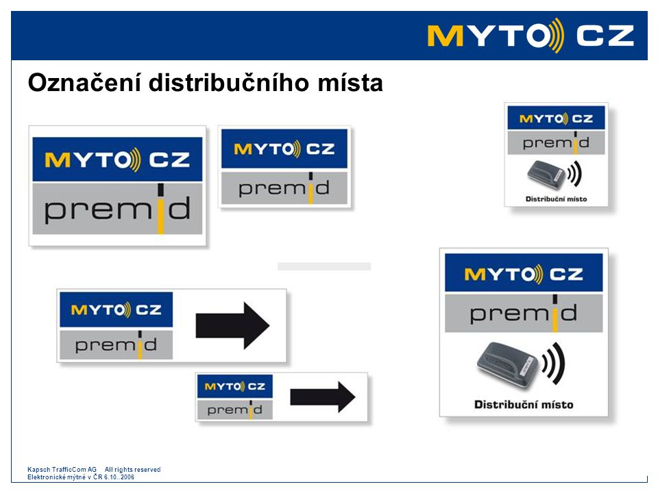 Označení distribučního místa